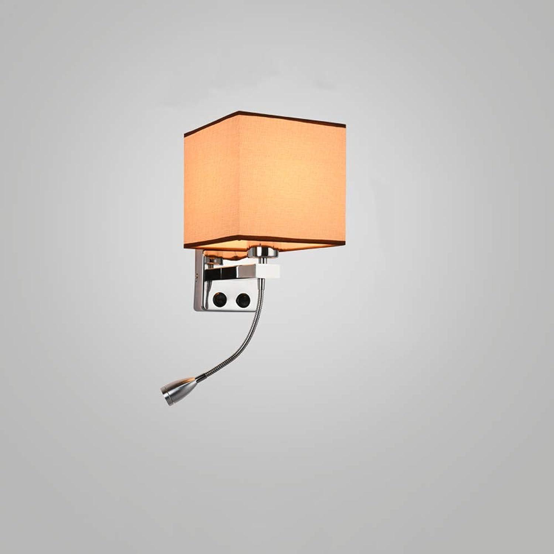 precios ultra bajos HBLJ  Lámparas de parojo LED con interruptor de de de perilla 5W AC110-240V Dormitorio de plata Lectura junto a la cama Dirección de la luz Iluminación interior ajustable Bombilla E27 (Color  Flax-A)  ventas al por mayor