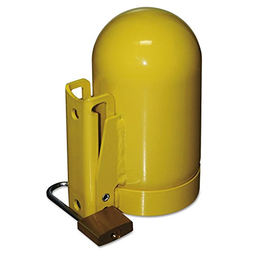 "Saf-T-Cart SC2FNNP-12 Cylinder Cap, Low Pressure, 3 1/2"", Steel, Yellow"