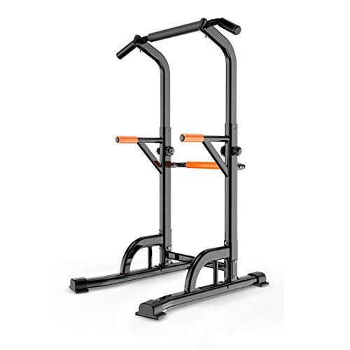 LOMJK Fitness Reality Multi-Function, Estante de Cuclillas eléctricas Ajustable, Gancho J, Varilla Superior múltiple y Mango de inmersión en la Jaula de Cuclillas olímpicas Aparato para Sentadillas