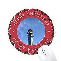 釘構造 円形滑りゴムのクリスマスマウスパッド