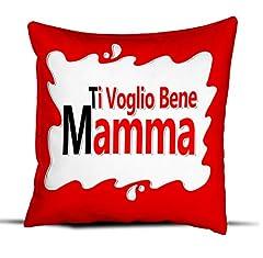 Idea Regalo - quickgadget Cuscino Idea Regalo Festa della Mamma, Ti Voglio Bene Mamma