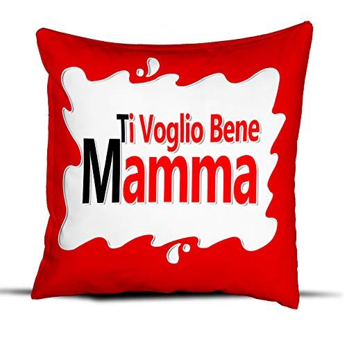quickgadget Cuscino Idea Regalo Festa della Mamma, Ti Voglio Bene Mamma