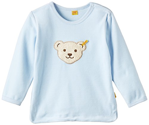 Steiff Sweatshirt 1/1 Arm Sweat-Shirt, Bleu Baby Blue Blue 3023, (Taille Fabricant: 80) Mixte bébé