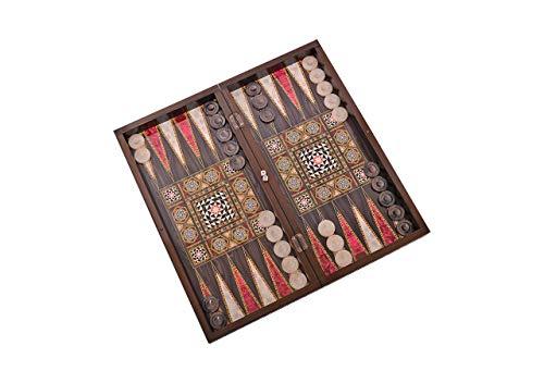 Master Games T68-Backgammon Elegance-Tavla-mit Magnetverschluss-Big Size 50,5cm x 25,5cm x 8,00cm-(Zertifiziert von SEDEX, SGS, INTERTEK)