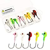 Lead Jig Head Soft Lure Fishing Bait Hook for Saltwater Freshwater (15PCS)