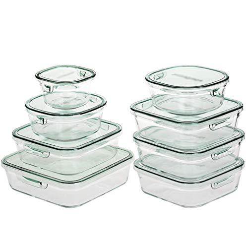 Fiambrera Fresca de mantenimiento de la caja de cristal fresco de mantenimiento de la caja de almacenamiento del refrigerador de fruta caja del hogar del...