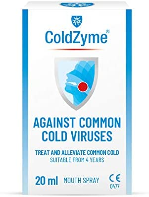 ColdZyme Mouth & Throat Spray (Not Nasal Spray)   Cold Virus Treatment, Alleviation and Protection   7ml Pack - Menthol Flavour