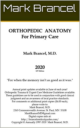 Orthopedic Anatomy For Primary Care (2020, 24th Annual Edition, Version 1) (English Edition)