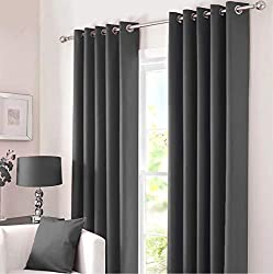 """Kinfolk Textile Ready-made Pair of Blackout curtains including 2 tie backs. Within each package there are four pieces: Left + Right curtain panel and 2 tiebacks. Sizes are Width x Length Available sizes: Width 46"""" X Drop 54"""", Width 46"""" X Drop 72"""", Wi..."""