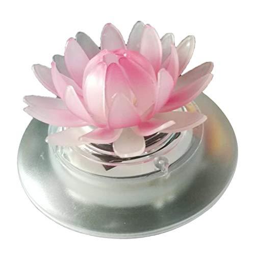 TISHITA Solarlicht LED Nachtlicht Schwimmende Frosch/Lotus Teichlampe Der Hingucker - Lotus