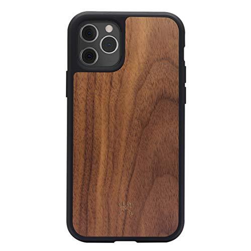 Woodcessories - Bumper Hülle kompatibel mit iPhone 11 Pro Max Hülle Holz Walnuss