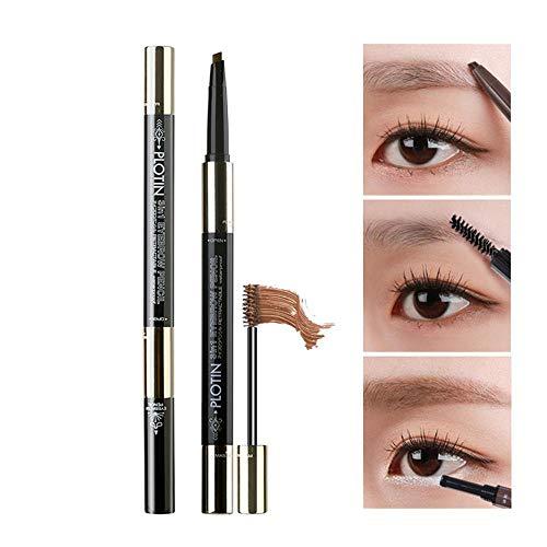 Lesgos Wasserdichter Augenbrauenstift, 3 In 1 3D-Stift für wischfeste, flüssige Tätowierungen, Augenbrauenstift mit Brauen-Kamm-Pinsel zum Markieren, Füllen, Konturieren und Augen-Make-up