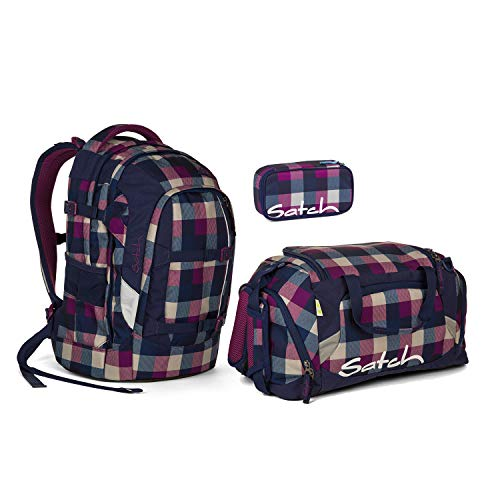 Satch Pack Berry Carry Schulrucksack Set 3tlg.