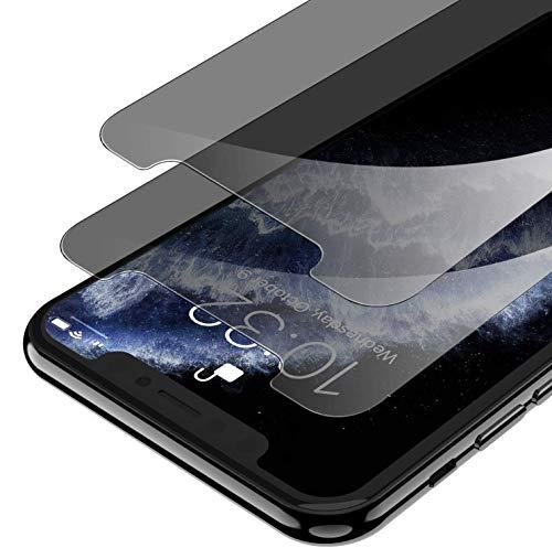 Syncwire 2 Pezzi Privacy Pellicola Protettiva per iPhone 11 Pro/X/XS 5,8 Pollici, Vetro Temperato Anti-Impronta [9H Durezza, 6 Volte Resistente] con Cornice Installazione, No Bolle, Non Bordo a Bordo