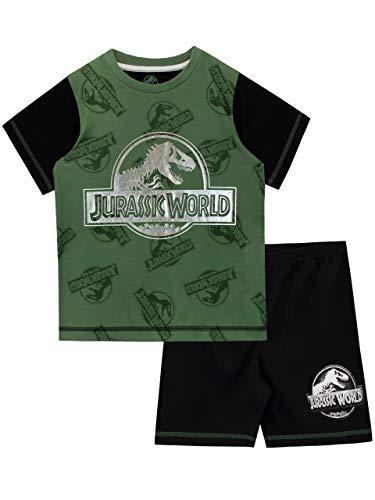 Jurassic World Jungen Dinosaurier Schlafanzug Schwarz 122