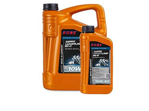 6 (5+1) Liter ROWE HIGHTEC SUPER LEICHTLAUF HC-O SAE 10W-40