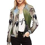 INTERESTPRINT Sunglasses and Dog Breed Siberian Husky Women's Women's Jacket Zipper Coat Outwear Sports Blouse XXL
