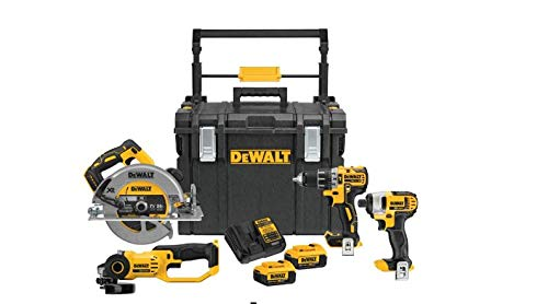 Dewalt 20-Volt MAX Lithium-Ion Cordless Combo Kit (4-Tool) and ToughSystem Case