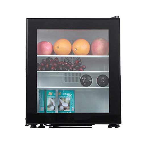YX Mini Fridge Refrigerador y Enfriador de Bebidas, Mini refrigerador con Puerta de Vidrio, refrigerador de Cerveza con Puerta Reversible para Cerveza, refresco o Vino para el hogar, la Oficina o el