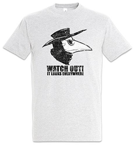 Urban Backwoods Plague Doctor II Herren T-Shirt Grau Größe 5XL