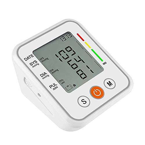 Qin Blood Pressure Monitor - Automatic Upper Arm Machine & Digital Adjustable Digital BP Cuff Kit, Pulse Rate Monitoring Meter with Cuff, Backlit Display