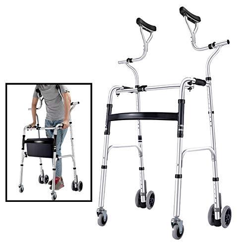 YXX- Rollator Gehhilfen Senioren Progressiv Hoher Stand Aufrecht Walker Für Senioren, Ältere Menschen, Erwachsene Und Behinderte - Schwerer Rollender Medizinischer Rollator, Last 180 Kg Gehwagen