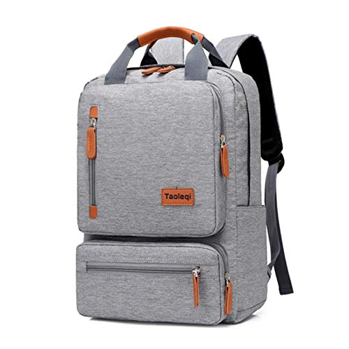 Casual Business Men Computer Backpack Light 15 Inch Laptop Bag Waterproof Oxford Cloth Lady Anti-theft Travel Backpack (Color : Light Grey)