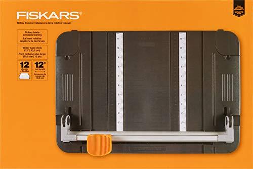 Fiskars 12 Inch Original Craft Rotary Paper Trimmer (95807097J),Gray