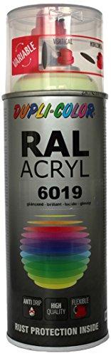 Dupli-Color 492426 RAL-Acryl-Spray 6019, 400 ml, Weißgrün Glanz