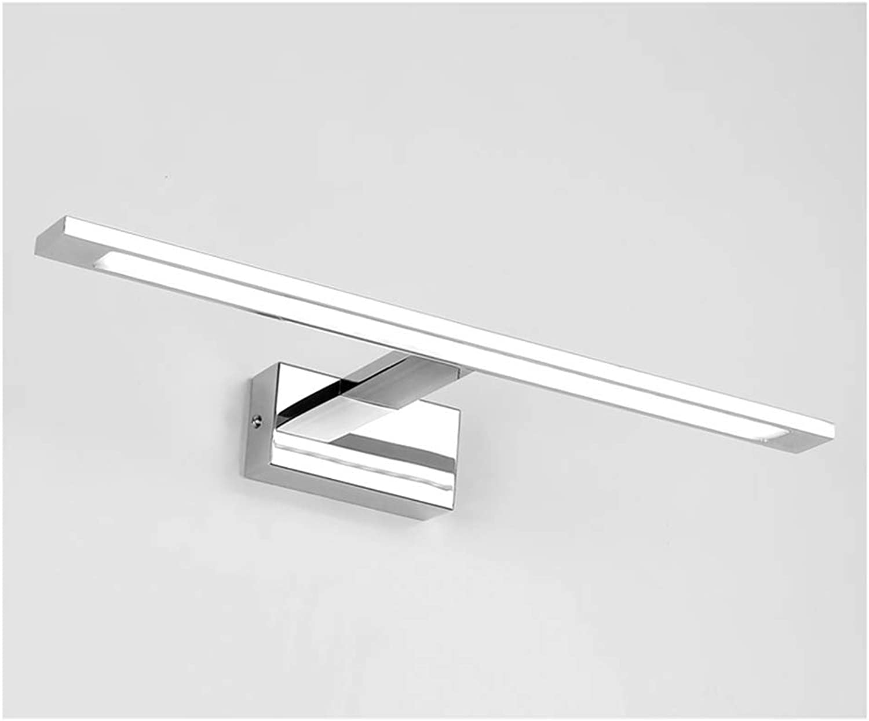 WB_L Spiegellampen LED-Spiegel Scheinwerfer, Badezimmerspiegelschrank Spiegelbeleuchtung Badezimmer Schminktisch Toilette WC Spiegel Lampen (Farbe   Weies Licht-48cm)
