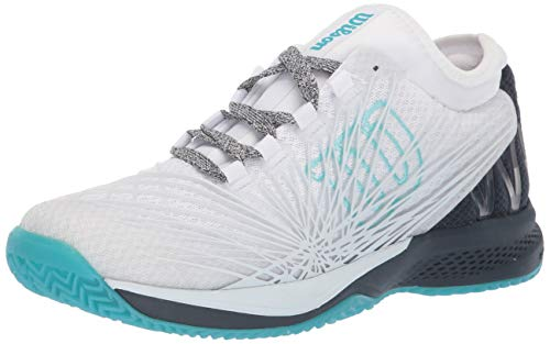 Wilson KAOS 2.0 SFT Tennis Shoes Women, White/Blueberry./Peacock Blue, 10