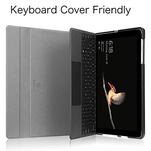 Fintie Schutzhülle für Surface Go 2 2020/ Surface Go 2018 10 Zoll Tablet - Business Hülle mit Harter Schale, anpassbarer Betrachtungswinkel, kompatibel mit der Type Cover Tastatur (Stoff dunkelgrau)