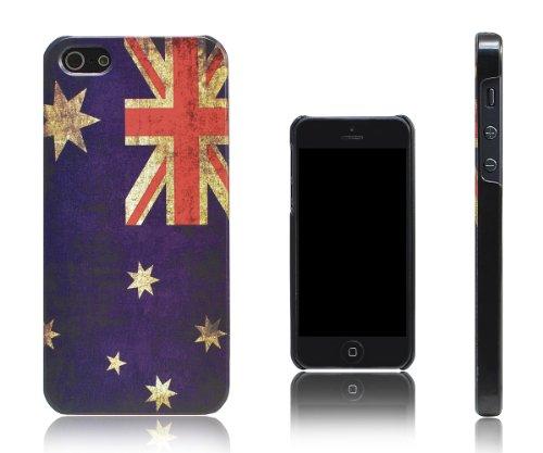 Xcessor Vintage kijken Australische vlag case voor iPhone SE / 5 / 5S