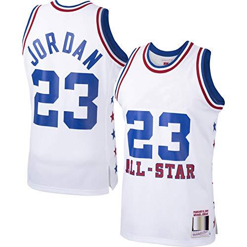 ERERT Personalizado Michael Baloncesto #23 Jersey Jordan Eastern sin mangas chaleco 1985 temporada clásicos Jersey All-Star Home Jersey Swingman Jersey - Blanco