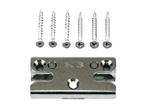 GU Pilzkopf Schließblech Schliessplatte 9-39950 Gr. 06 oder auch 9.39950 06 (6-30495-07-0-1) incl. SN-TEC Montagematerial