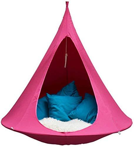 Hamaca Silla Colgante Silla de hamaca portátil Colgando Tienda Tienda Tienda Swing Show Schook Nizz Nest Hamaca de asiento colgante Para Interior al aire libre, ideal para niños, capacidad máxima de 2