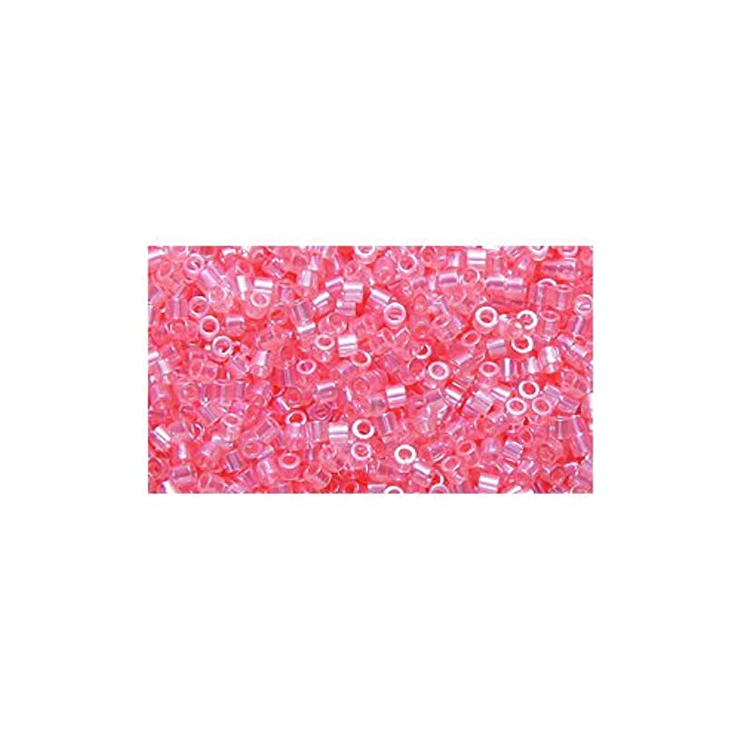 Miyuki Delica Seed Bead 15/0 DBS0106, Transparent Pink Luster, 9-Gram/Pack