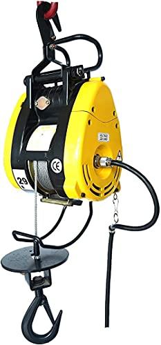 LUOQI Cuerda de Alambre eléctrico Levantamiento de elevación 91 8 pies Elevador Altura Control de Alambre grúa elevadora eléctrica de Corriente Aplicar al almacén de Garaje 180kg (1400W)