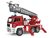 Bruder 02771 - MAN Feuerwehr mit Drehleiter, Wasserpumpe und Light & Sound Modul -