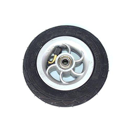 Rueda inflable de 5 pulgadas que usa el eje metálico 5 X 1 neumático con el vehículo eléctrico del tubo interno Rueda neumática de 5 pulgadas Rueda de Kart del go