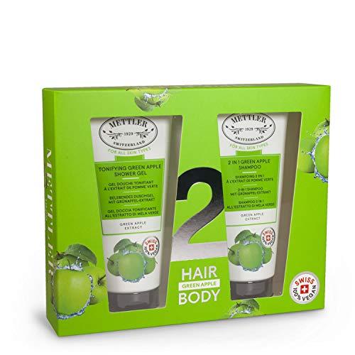Mettler1929 Set Pomme Verte pour Cheveux et Corps