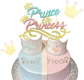 Prince or Princess Cake Topper Prince or Princess Gender Reveal Cake Topper Prince or Princess Baby Shower Cake Topper Boy or Girl Cake Topper