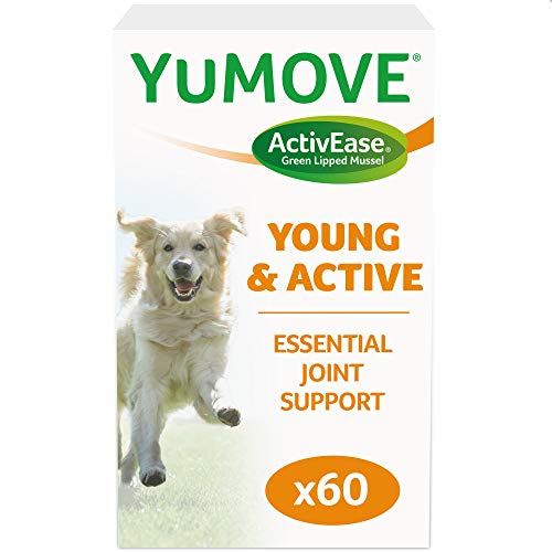 Lintbells | YuMOVE Young and Active Dog | Hip and Joint Supplement for Dogs to Support Active and Growing Joints | Aged 0 to 4 | 60 Tablets