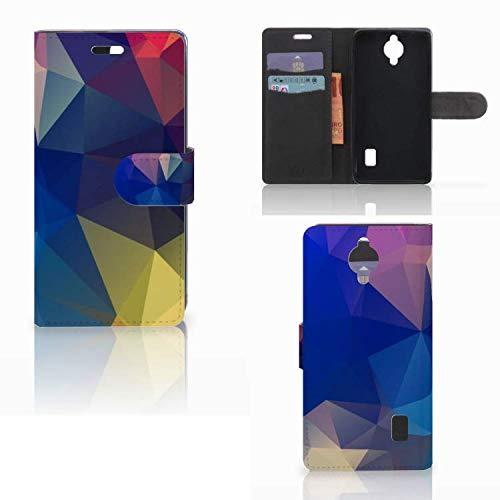 B2Ctelecom Hülle für Huawei Y635 Tasche Polygon Dunkel