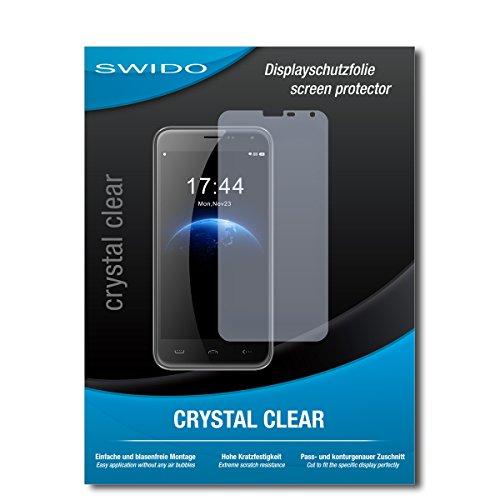 SWIDO Schutzfolie für Homtom HT3 Pro [2 Stück] Kristall-Klar, Hoher Festigkeitgrad, Schutz vor Öl, Staub & Kratzer/Glasfolie, Bildschirmschutz, Bildschirmschutzfolie, Panzerglas-Folie