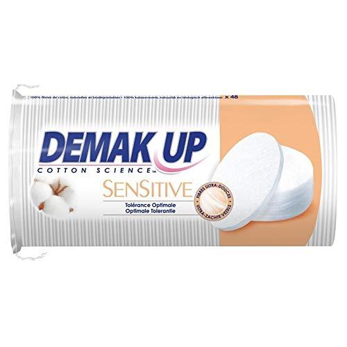 DEMAK'UP - 48 Coton Démaquillant Sensitive Oval - Lot De 4 - Livraison Gratuite