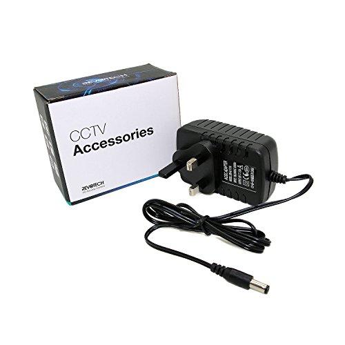 Revotech® - UK Type Adapter DC 12V 2A CCTV Security Camera Power Supply UK Plug Power Adapter