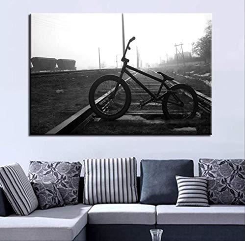 YGKDM Wohnkultur canvas schilderij 1 stuks HD prints fiets muurkunst boom modulaire landschap foto's nacht achtergrond kunstwerk poster 50x75 cm x 1 geen lijst