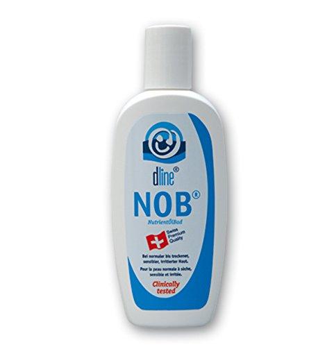 dline NOB-NutrientÖlBad 200ml, pflegendes Duschöl und Badeöl (Lipide 77%) für hochwertige Rückfettung bei normaler bis trockener Haut, Flasche (1 x 200 ml)