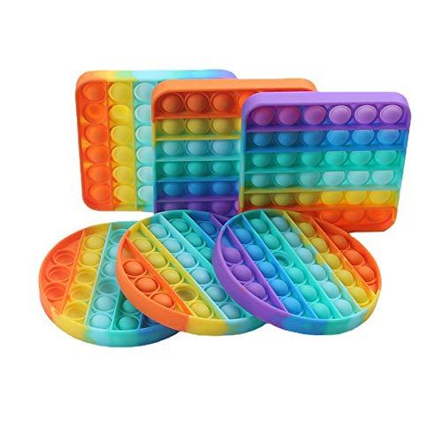 DZWJ 2021 color Bubble Sensory Fidget Toy, Extrusion Bubble Fidget Sensory Toy Autism Special Needs Stress Reliever 6PCS